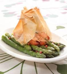 Recette de Bricks aromatiques de saumon et sa sauce balsamique